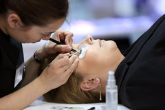 POZNAN - APRIL 26: Look Beauty Fashion Forum Poznan 2014. Stock Images