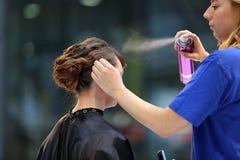 POZNAN - APRIL 26: Look Beauty Fashion Forum Poznan 2014. Stock Photo