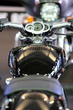 POZNAN - 9 APRILE: Harley-Davison sulla fiera al salone dell'automobile Fotografie Stock Libere da Diritti