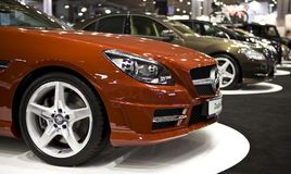 Poznan-Autoausstellung 2012 Stockfoto