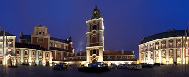 Poznan city council. Collegiate Church of Our Lady of Perpetual Help and St.. Mary Magdalene and city council in Poznan, Poland stock photos