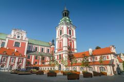 Poznan Collegiate and Parish Church of St. Stanislaus the Bishop and the Martyr, Poland. royalty free stock photography