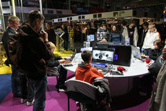 Poznan Game Arena. PGA - Poznan Game Arena - 22-23.11.2008. International exhibition of video and computer games in Poznan, Poland. One of the biggest exhibition Stock Images
