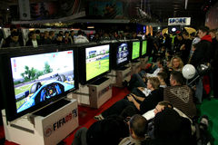Poznan Game Arena. PGA - Poznan Game Arena - 22-23.11.2008. International exhibition of video and computer games in Poznan, Poland. One of the biggest exhibition Royalty Free Stock Photos