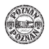 Poznan grunge rubber stamp Royalty Free Stock Image
