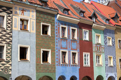 Poznan houses Royalty Free Stock Photography