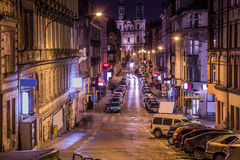Poznan at night. The city center of Poznan at night Royalty Free Stock Images