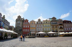 Poznan old square restaurants Stock Photos
