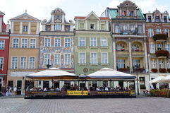 Poznan old square restaurants Stock Images