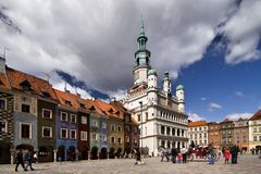 Poznan Old Town Stock Photo