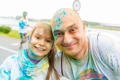 Poznan, Polônia - 20 de maio de 2017: Povos felizes que participam no Foto de Stock