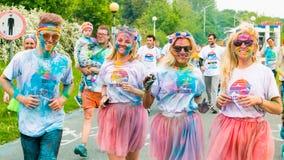 Poznan, Polônia - 20 de maio de 2017: Povos felizes que participam no Imagem de Stock Royalty Free