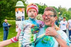 Poznan, Polônia - 20 de maio de 2017: Povos felizes que participam no Fotos de Stock