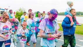 Poznan, Polônia - 20 de maio de 2017: Povos felizes que participam no Fotografia de Stock Royalty Free