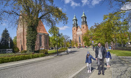 POZNAN, POLAND - APRIL 30, 2017: Cathedral and St. Mary s Church Stock Photo