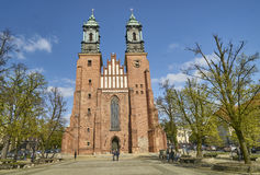 POZNAN, POLAND - APRIL 30, 2017: Cathedral and St. Mary s Church Stock Photos