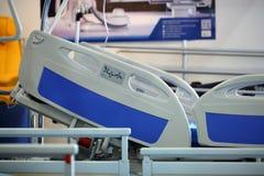 POZNAN, POLAND - APRIL 12. 2016: Empty bed in hospital room. Poz Stock Photos