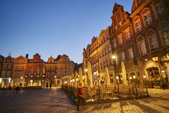 POZNAN, POLAND - APRIL 30, 2017: Old town square on 30 April 201 Royalty Free Stock Image