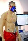 POZNAN, POLAND - APRIL 12. 2016: Training dummy with EKG test eq Stock Photography