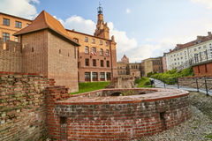 POZNAN, POLAND - APRIL 30, 2017: View of the old city walls on 3 Stock Photography