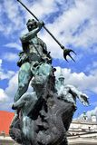 Poznan-Poland. Charming Old Market Square. Poznan-Poland.The fountain of Neptune in Old Market Square Royalty Free Stock Photo