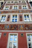 Poznan-Poland. Charming Old Market Square. Poznan-Poland. Stunning,full of colours, painted house in Old Market Square Royalty Free Stock Images