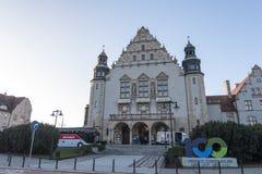 Adam Mickiewicz University in Poznan, Poland. Poznan, Poland - December 05, 2018: Neo-renaissance facade of the building of Adam Mickiewicz University. Poznan royalty free stock photo