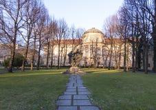 The building of the Poznan University of Medical Sciences. Poznan. Poland. Poznan, Poland - December 05, 2018: The building of the Poznan University of Medical stock images