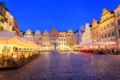 Poznan, Poland. Historical buildings at the central square of Poznan, Poland Stock Photography