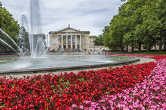 POZNAN, POLAND - JULY 09, 2016: The Grand Theatre (Opera), green Stock Photography