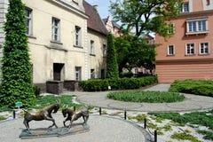 Poznan, Poland: Kolegiacki Square Royalty Free Stock Photos