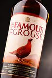 Bottle of The Famous Grouse whisky Royalty Free Stock Photo