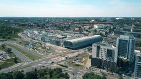 POZNAN, POLAND - MAY 20, 2018. Aerial view of Avenida shopping mall Stock Photos