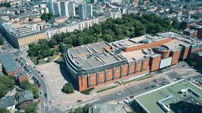 POZNAN, POLAND - MAY 20, 2018. Aerial view of Stary Browar shopping mall Stock Photos