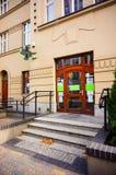 Dr. Max pharmacy. Poznan, Poland - November 1, 2018: Dr. Max pharmacy shop front entrance in the city center royalty free stock photos