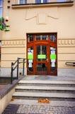 Dr. Max pharmacy entrance. Poznan, Poland - November 1, 2018: Dr. Max pharmacy shop front entrance in the city center stock images