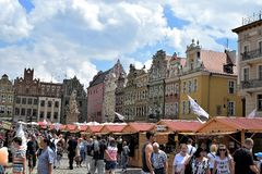 Poznan-Poland. Old Market Square. Poznan-Poland. Charming Old Market Square - traditional June fair Royalty Free Stock Photos