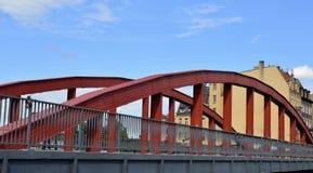 Poznan-Poland. Ostrow Tumski - Bishop Jordan`s bridge. Poznan-Poland. Metal bridge connecting Ostrow Tumski and cathedral with another old part of Poznan -Srodka Stock Photography