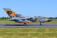 Panavia Tornado ECR from Germany - Air Force. Poznan/Poland 28.03.2017: Panavia Tornado ECR from Germany - Air Force at Poznan/Poland royalty free stock photo