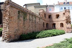 Poznan-Poland. Ruins of old town walls. Poznan-Poland. Interesting ruins of old town walls Royalty Free Stock Photography
