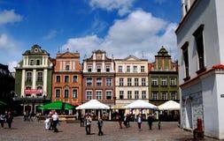 Poznan, Poland: Rynek Marlet Square Mansions Royalty Free Stock Images