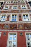 Poznan-Polen Charmig gammal stadmarknadsfyrkant Royaltyfria Bilder