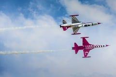 POZNAN POLEN - JUNI 14: Aerobatic gruppbildande Fotografering för Bildbyråer