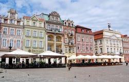 Poznan, Polen: Vierkant van de Markt van Rynek het Oude stock afbeelding
