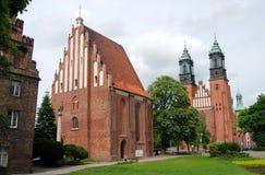 Poznan, Pologne : Cathédrale et église de rue Mary Photo libre de droits