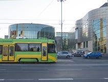 Poznan, Pologne - 5 décembre 2018 : Amphithéâtre de construction en verre du conservatoire à Poznan poland photographie stock