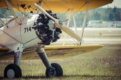 POZNAN, POLOGNE - 14 JUIN : Airc de formation des USA des années 1930 de Boeing Stearman Image stock