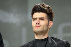 POZNAN, POLONIA - 7 MAGGIO 2016: Manifestazione di modello di hairstyling di concetto a Immagine Stock Libera da Diritti