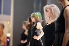 POZNAN, POLONIA - 7 MAGGIO 2016: Manifestazione di modello di hairstyling di concetto a Immagine Stock