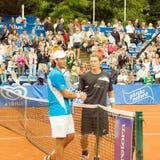 Poznan Porshe Open 2009 - Schukin-Luczak handshake Stock Photos